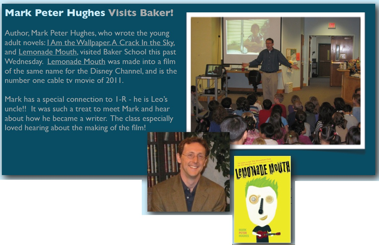 Mark Peter Hughes at Baker School